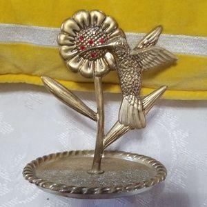 VTG Hummingbird Jewelry Tray